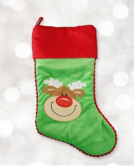 Green Reindeer Stockings