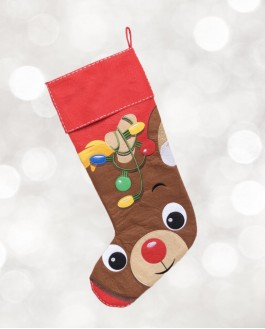Red Reindeer Stockings
