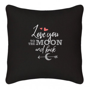 Coussin - Love you to the moon and back