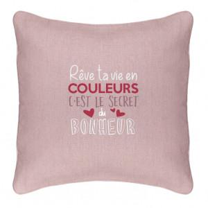 Coussin - Rêve ta vie en couleurs