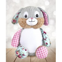 Cubby Harlequin Pink Bunny