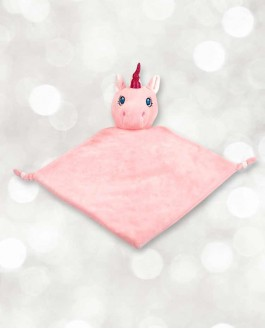 Mini Doudou licorne rose