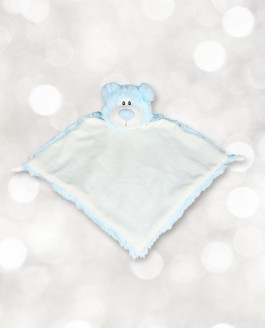 Mini Doudou ourson bleu