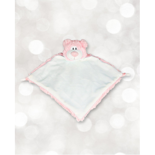 Mini Doudou ourson rose